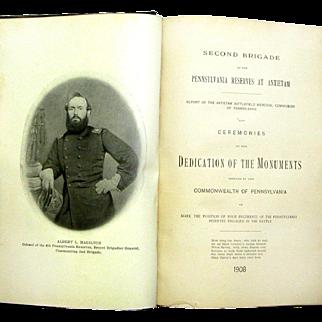 "Book ""Second Brigade of Pennsylvania Reserves at Antietam"", Comp. Alex. F. Nicholas, 1908"