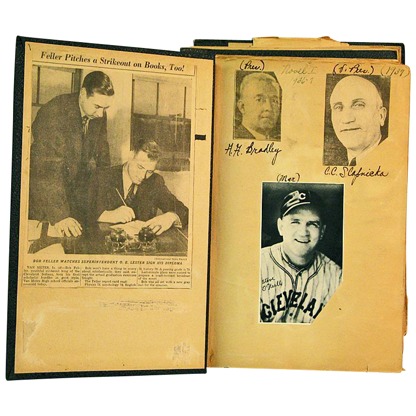 Bob Feller Scrap Book, Early Career of Hall of Fame Pitcher, 1937 - 1938
