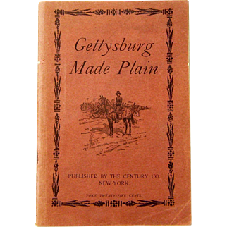 """Book, """"Gettysburg Made Plain"""", by Abner Doubleday, 1909"""