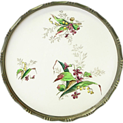 Large Ceramic Floral Decorated Tray from Germany