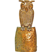 Goberg Owl Bell, Jugendstil,Hand Hammered in Germany