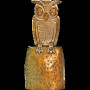 Goberg Owl Bell, Jugendstil,Hand Hammered in Germany