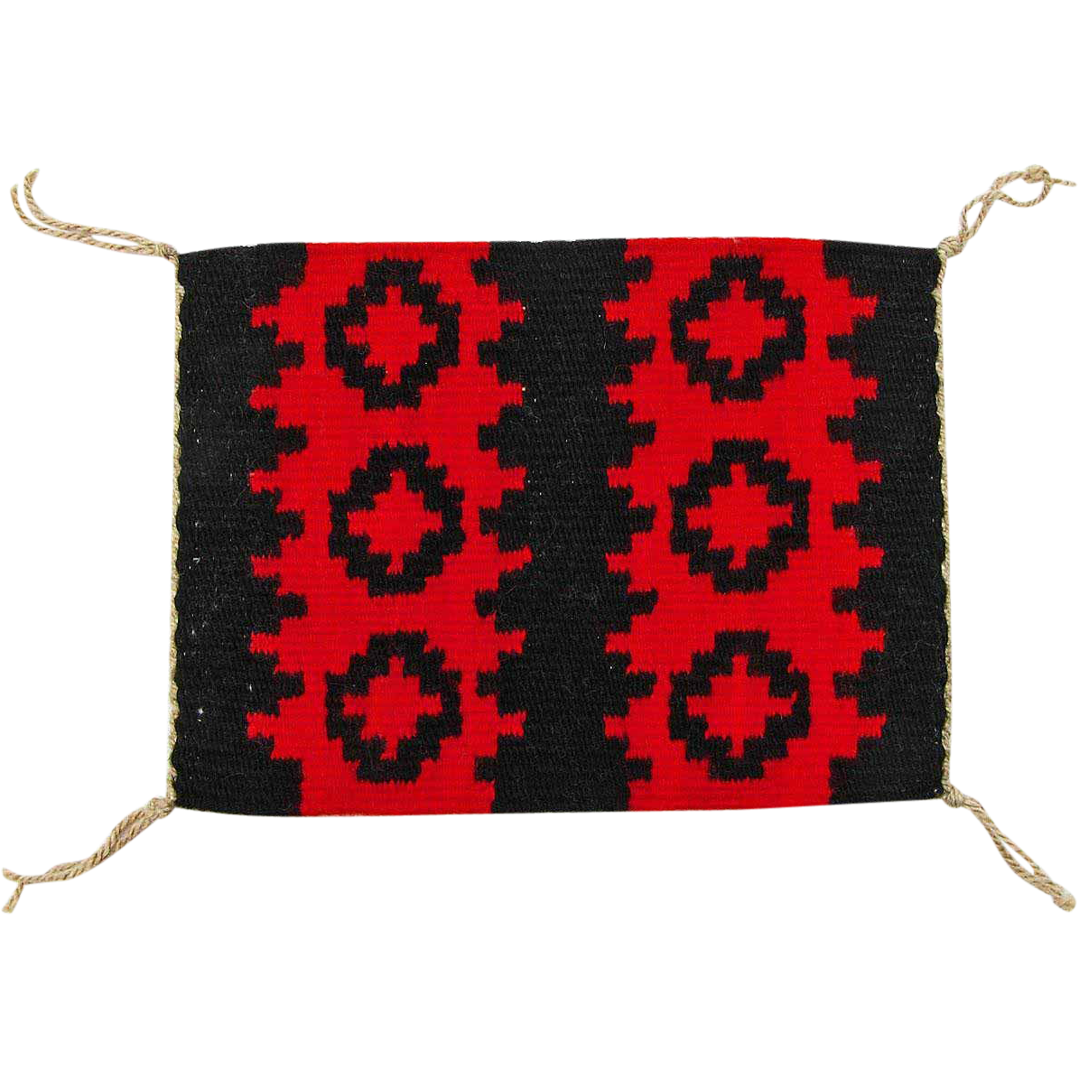 Hand Woven Ganado Navajo Weaving, Tapestry, Ca. 1970's