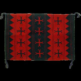 Navajo (Dineh) Weaving or Manta, Old Woman Cross, Display Piece or Wall Hanging