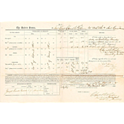 U.S. Colored Troops, Civil War Pay Document, Key West, 1865