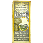 Promotional Brochure with Map of North Dakota,  1905