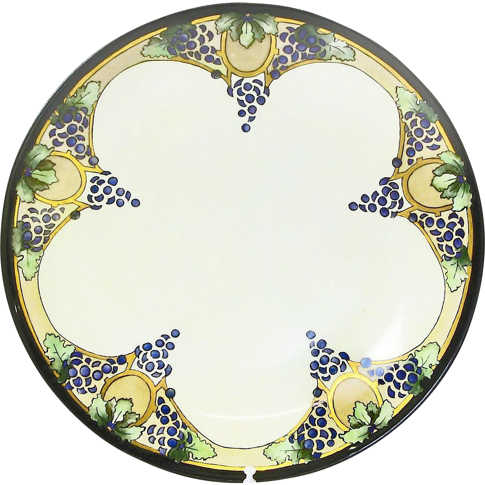 """Hand Painted Plates : Hand painted """"j c bavarian decorative plate arts and"""