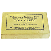 Boxed Set of 50 Yellowstone Park Post Cards, Ca. 1928