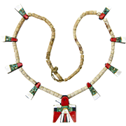 Santo Domingo Thunderbird Necklace, Depression Era