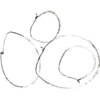 Silver Hoops forged Sterling Silver Petal Hoops large Bold and small earrings Gem Bliss