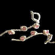 Pearl Twig Earrings, Keshi and Topaz earrings, Rustic Branch Pearl wrapped Earrings