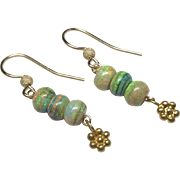 Gold filled Opal Drop Earrings