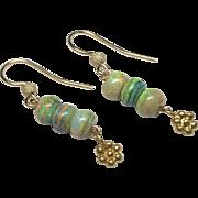 Gold filled Opal Drop Earrings