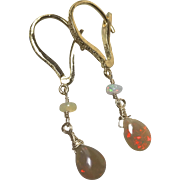 Welo Opal Earrings, Opal Earrings, Ethiopian Opal Earrings