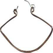 Bold Copper Sterling Silver Hoops, Lantern Hoop Earrings, Rustic Cooper Hoops