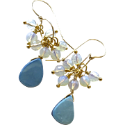 Boulder Opal Gold filled Opalite dangle drop Earrings