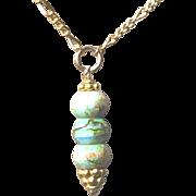 Gold filled Opal Drop Pendant Necklace