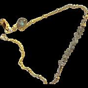 Diamond Bracelet, Layering bracelet, Labradorite charm, Gem Bliss Camp Sundance