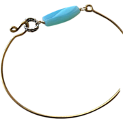 Peruvian Opal Layering Bracelet Bronze bangle bracelet Camp Sundance Gem Bliss