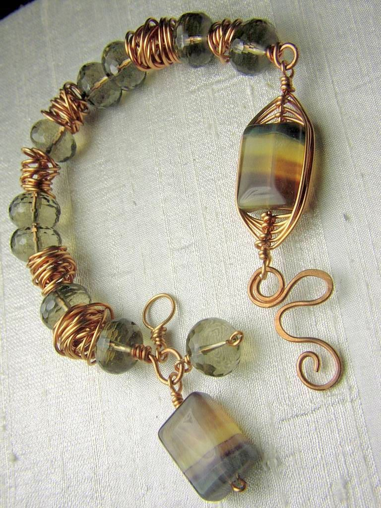 Copper Turquoise Bracelet Weave Wrap Camp Sundance Charms From Sweetwaterjewelrydesigns On