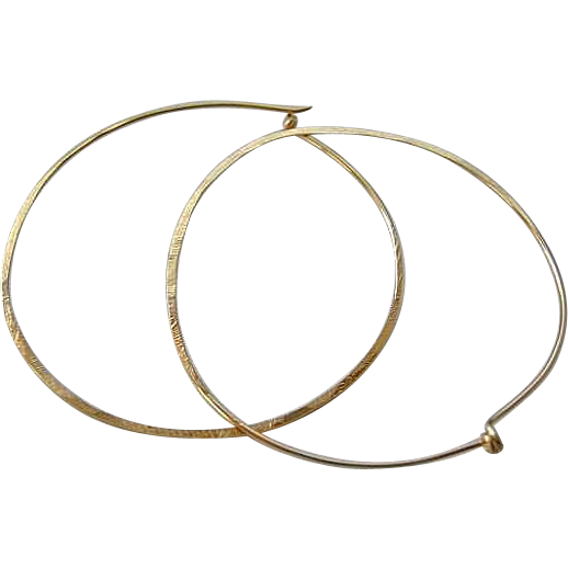 Hoop earrings, Classic Hoops, hand hammered hoops, 2 inch, Gold filled earrings, Sterling Silver, Camp Sundance jewelry, Gem Bliss