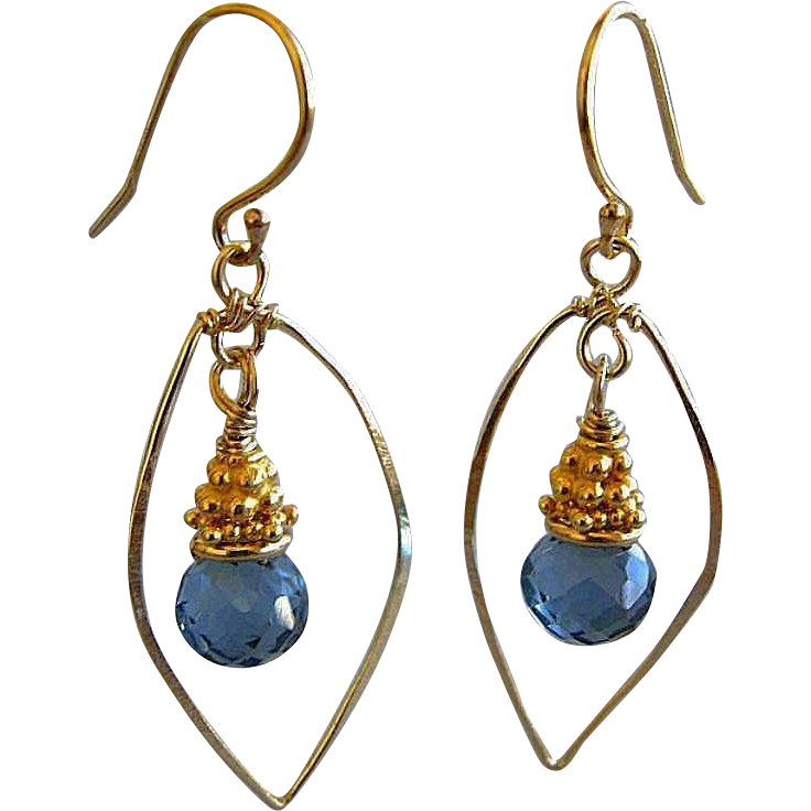 Topaz earrings Blue earrings Gem Bliss Camp Sundance