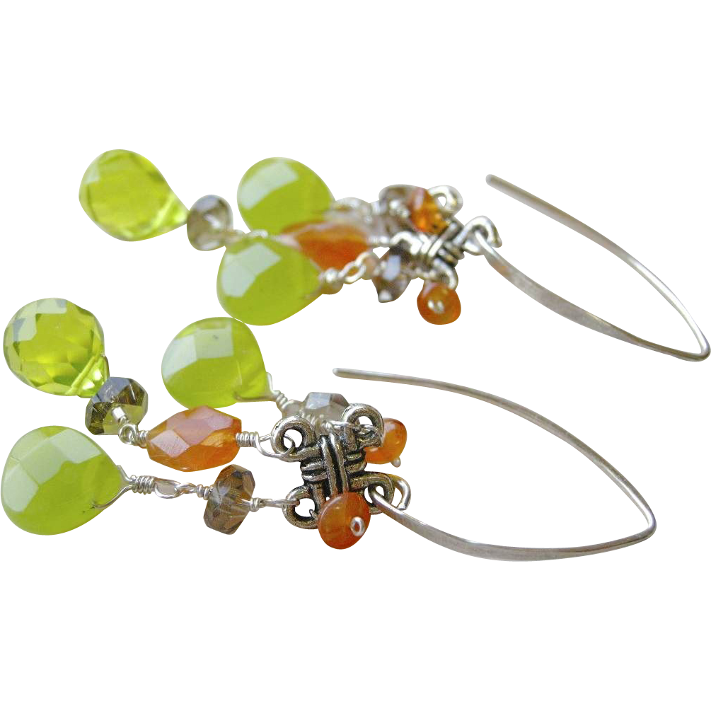 Carnelian Silver earrings, Celtic Knot, Camp Sundance, Gem Bliss