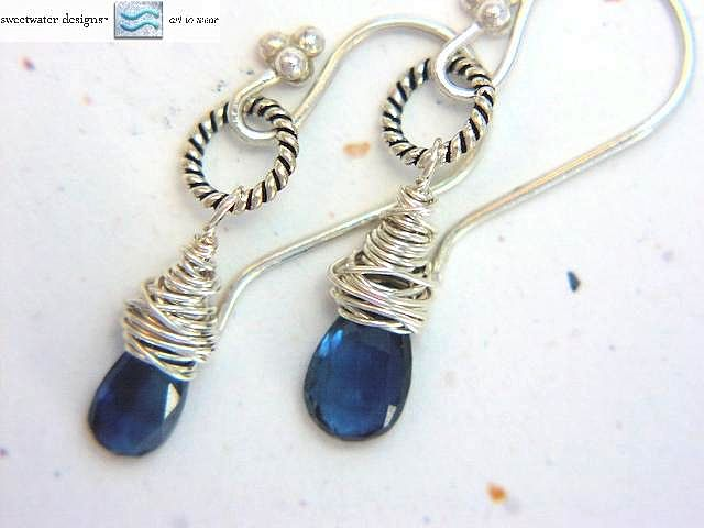 Kyanite earrings, Silver drop earrings, Camp Sundance jewelry