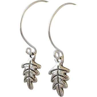 Silver Hoops, Leaf charm earrings, Camp Sundance, Gem Bliss
