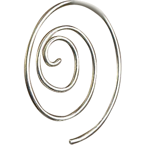 Silver Spiral hoop earrings, Hand forged, Camp Sundance, Gem Bliss