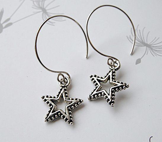 Hoops star charms Silver earrings on mini Designer Camp Sundance