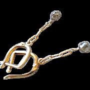 Champagne Diamond earrings, 14K Gold, Gold diamond earrings, luxury earrings, Camp Sundance, Gem Bliss