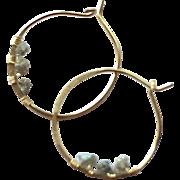 Petite Diamond Hoops, Raw Diamond Hoops, Wedding Diamond earrings, Bridesmaid gift, Gold filled, Camp Sundance, Gem Bliss