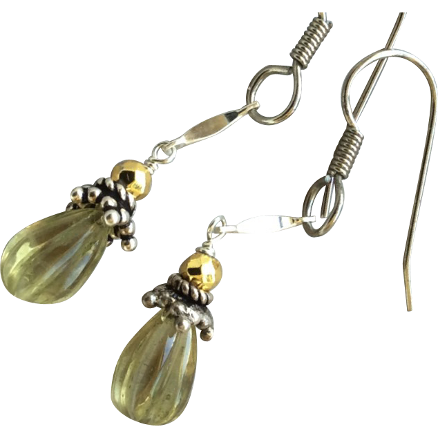 Lemon Drop Earrings Silver everyday earrings Gem Bliss