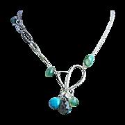 Turquoise necklace, Labradorite Apatite necklace, Silver necklace, Camp Sundance, Gem Bliss Sundance heart