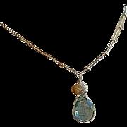 Moss Aquamarine necklace, Neon Apatite, Labradorite, Camp Sundance, Gem Bliss