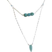 Amazonite layering necklace Silver Amazonite necklace Camp Sundance Gem Bliss