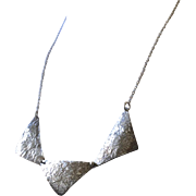 Modern Silver Necklace, layering necklace Gem Bliss