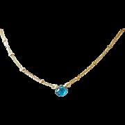 Apatite solitaire tiny necklace Camp Sundance, Gem Bliss