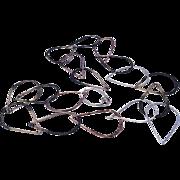 Handmade Links Necklace Silver Bronze Copper Gem Bliss