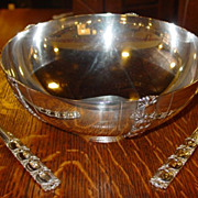 Sterling silver Tiffany &Co salad bowl and servers