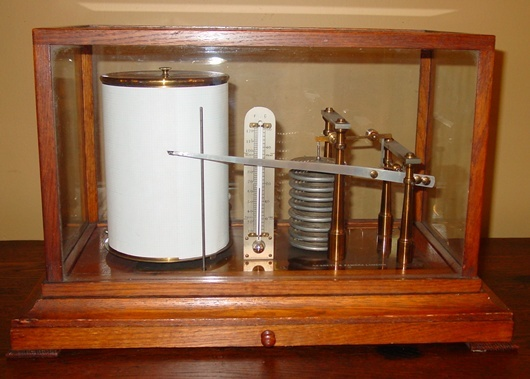 Antique Cased barograph-Negretti & Zambra-excellent