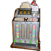 Great 5 cent Front OK vendor oak slot machine
