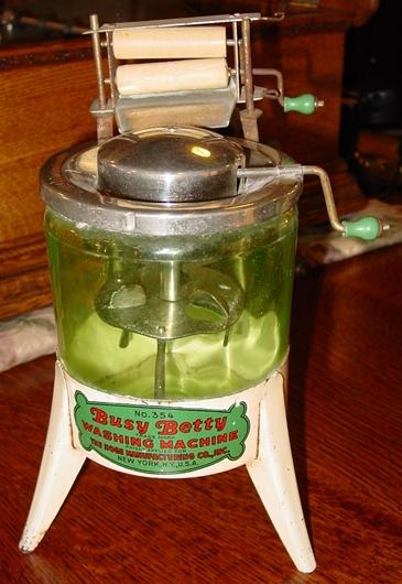 Toy Busy Betty washing machine 1930's