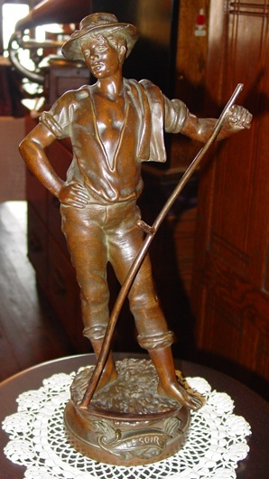 French bronze farmer--Near The Evening Rest