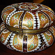 Large Art glass Moser? Bohemian dresser box