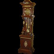 Ornate German Furtwangler tall case clock