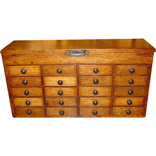 drawers for cabinets kitchen small 20 drawer oak watchmakers from sydowsantiques 15060