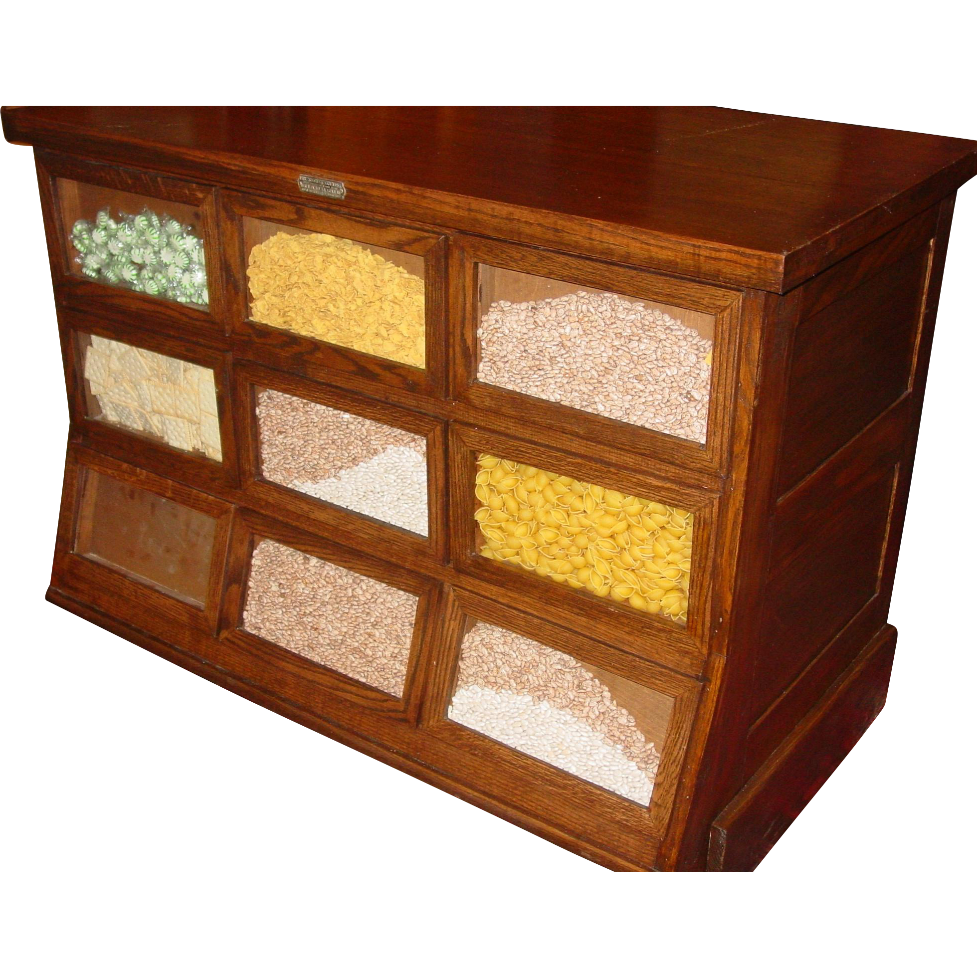 9 drawer oak seed bean cabinet counter Sherer