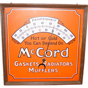 McCord automotive wall thermometer NOS